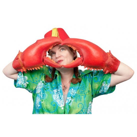 Grote krabben handschoenen (bron: Pruiken-winkel)