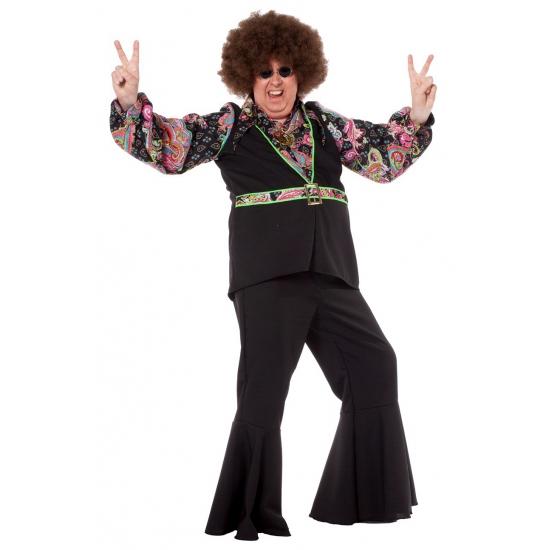 Grote maat hippie blouse voor heren (bron: Pruiken-winkel)