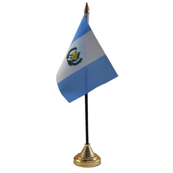 Guatemala tafelvlaggetje inclusief standaard