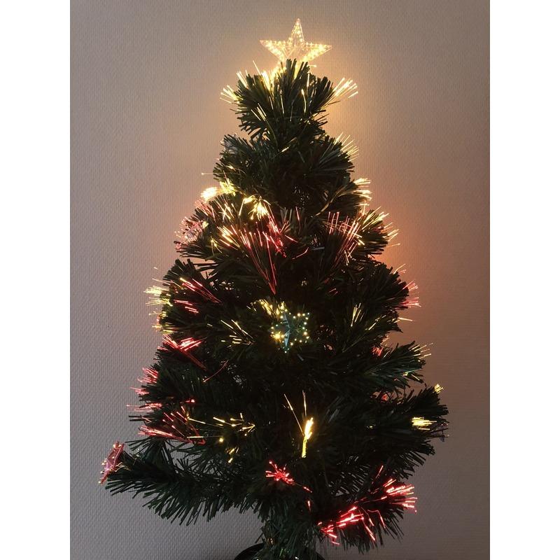 Kunst kerstboom met versiering 90 cm (bron: Pruiken-winkel)