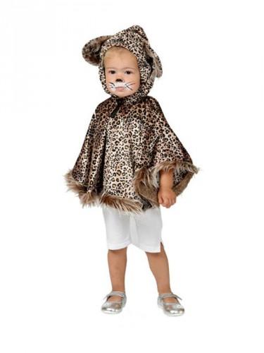 Luipaard poncho voor peuters (bron: Pruiken-winkel)