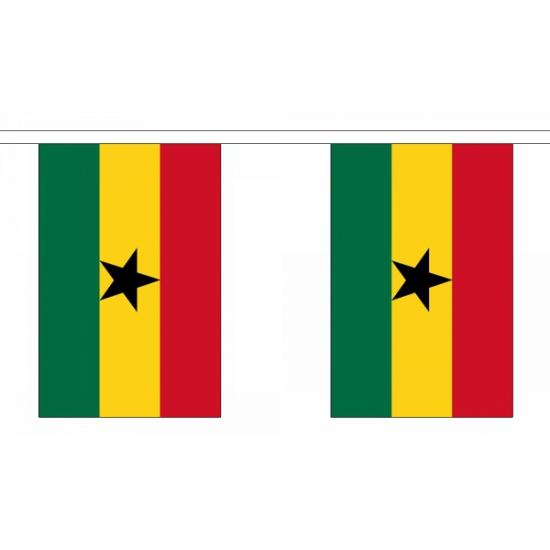 Luxe Ghana vlaggenlijn 9 meter