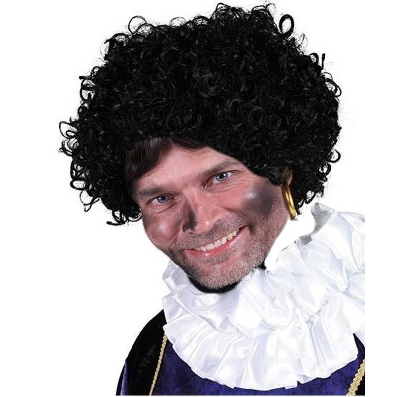 Luxe Zwarte Piet pruik