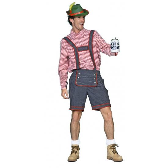 Oktoberfest Tiroler lederhose voor heren