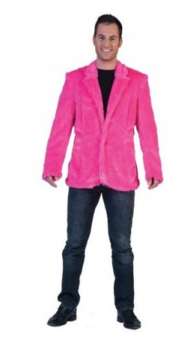 Roze pluche feest jas