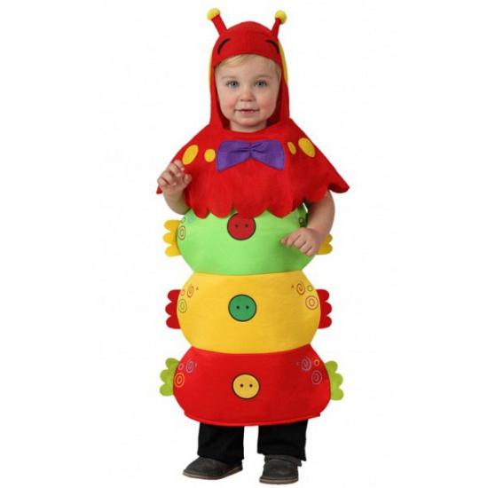 Rups kostuum voor kinderen. rupsen pakje in felle kleuren met een apart hoofdstuk met voelsprieten. het ...