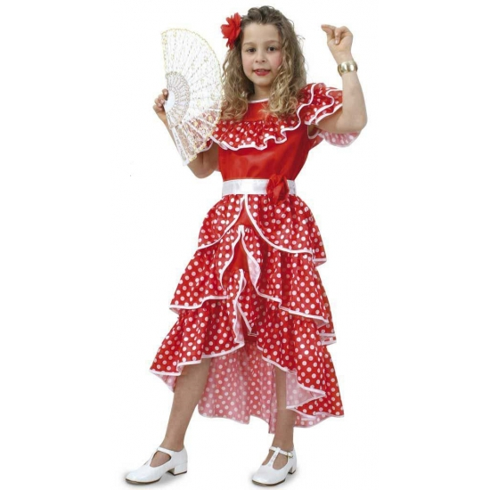 Spaanse jurk voor meisjes (bron: Pruiken-winkel)