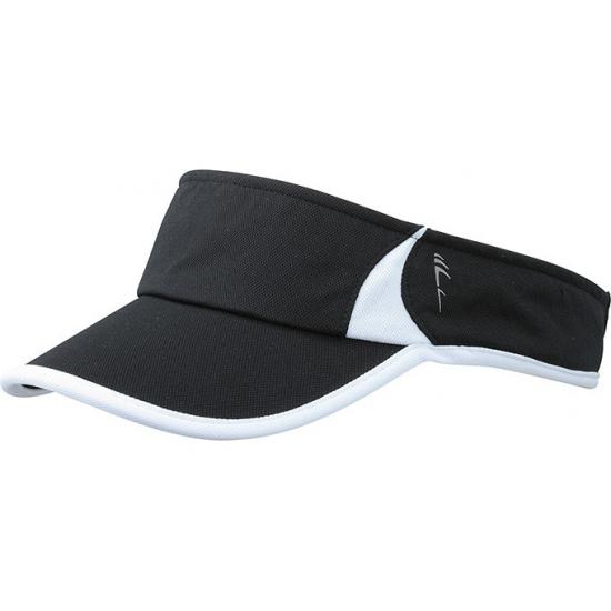 Sportieve zonneklep zwart en wit
