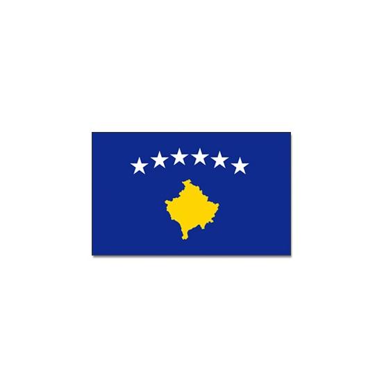 Vlag Kosovo 90 x 150 cm (bron: Pruiken-winkel)