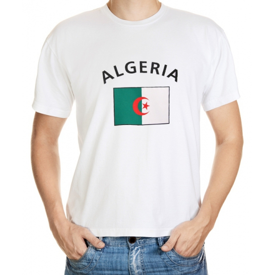 Wit heren t-shirt Algerije