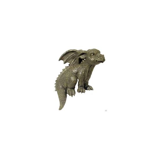 Zittende draken beeld 28 cm