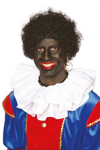 Zwarte Pieten pruik voor volwassenen