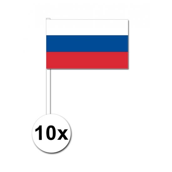 10 zwaaivlaggetjes Rusland 12 x 24 cm Geen beste prijs