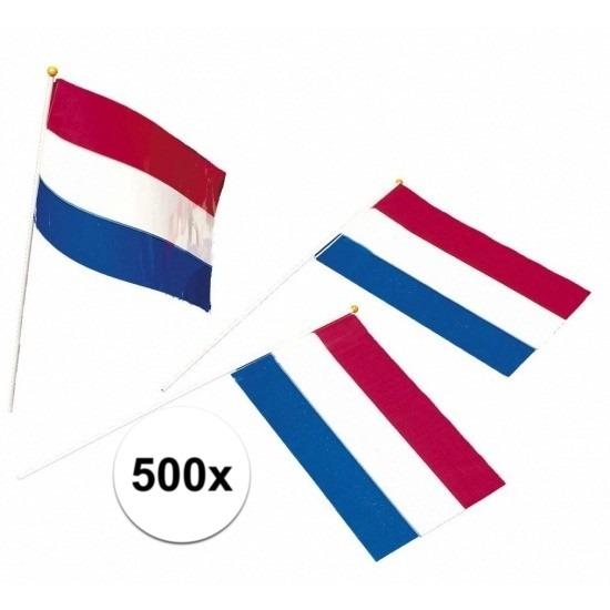 Koopje 11% Korting 500x Plastic zwaaivlaggetje Holland