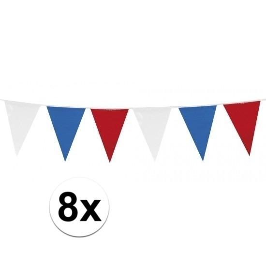 8x Vlaggenlijnen Holland rood wit blauw Geen Geweldig