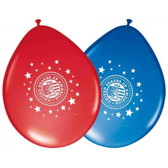 Amerika ballonnen 8 stuks Geen Landen versiering en vlaggen