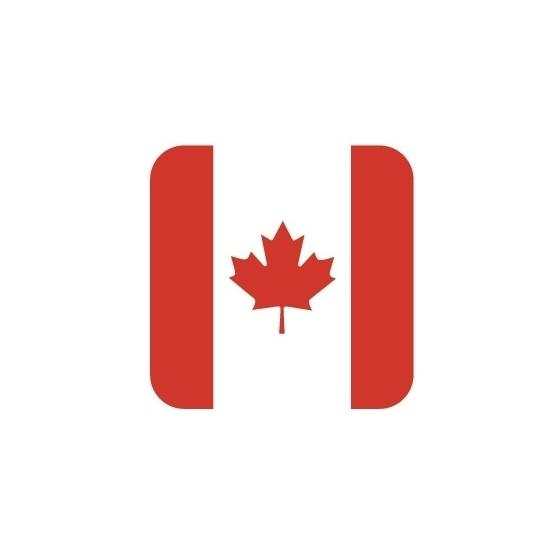 Landen versiering en vlaggen Bierviltjes Canadese vlag vierkant 15 st
