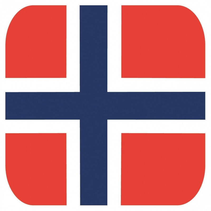 Bierviltjes Noorse vlag vierkant 15 st Shoppartners Landen versiering en vlaggen