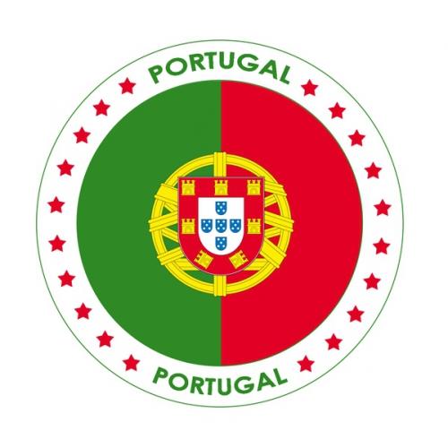 Landen versiering en vlaggen Bierviltjes Portugal thema print
