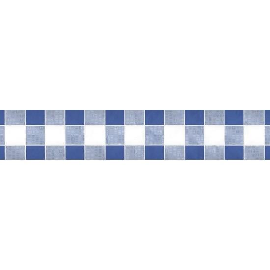 Blauw/wit ruitjes papieren tafellaken/tafelkleed 1000 x 118 cm