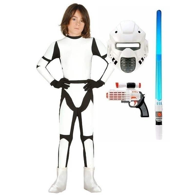 Compleet Space trooper kostuum maat 122-134 voor kinderen