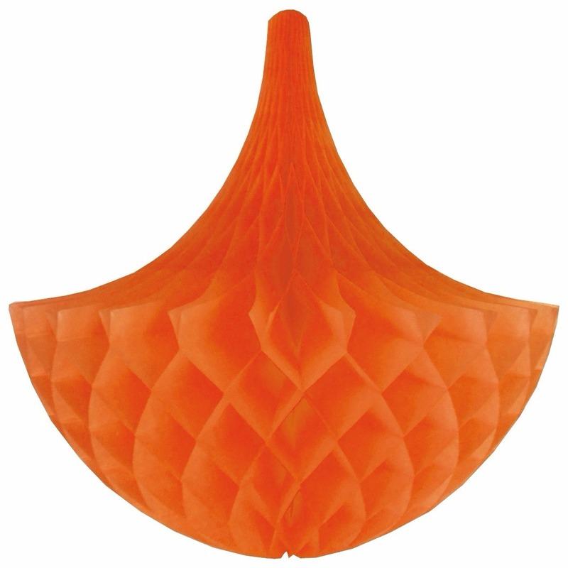 Kleuren versiering Decoratie kroonluchter oranje 35 cm