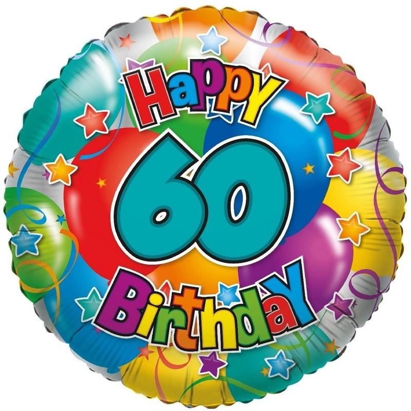 Folie ballon 60 jaar 35 cm