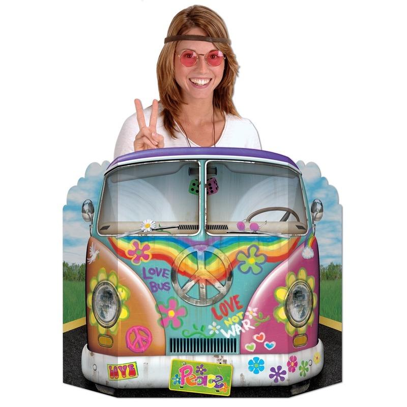 Foto bord hippiebusje 94 x 63 cm
