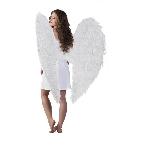 Grote engelen vleugels wit 120 cm
