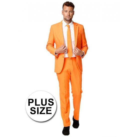 Grote maten oranje kostuum