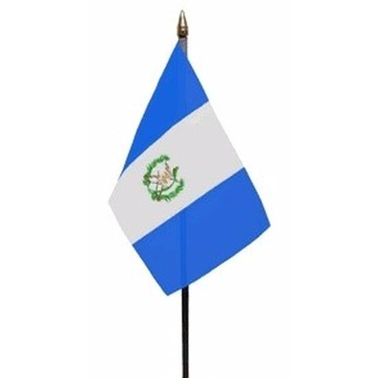 Landen versiering en vlaggen Geen Guatemala mini vlaggetje op stok 10 x 15 cm