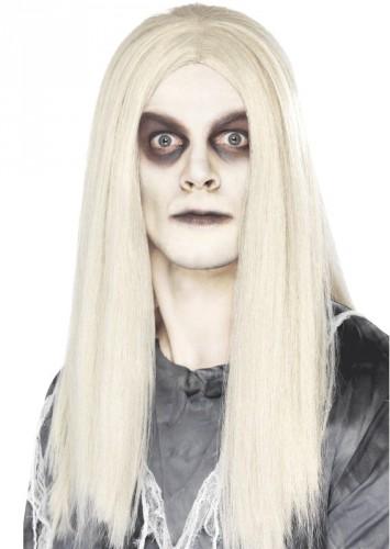 Halloween - Spook pruik lang wit haar