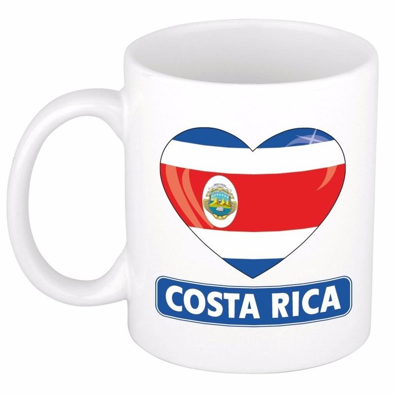 Hartje Costa Rica mok beker 300 ml Shoppartners Landen versiering en vlaggen