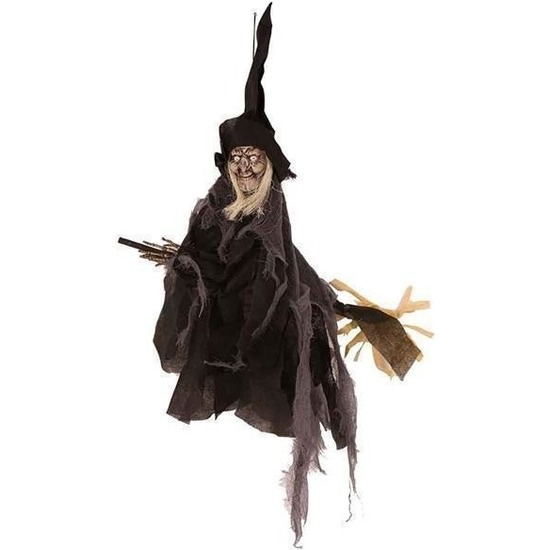 Waxinelichthouder Halloween.Feestartikelen Met Vals Lachende Decoratie Heks 90 Cm