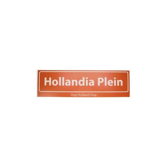 Oranje artikelen Geen Hollandia straatbord Hup Holland Hup