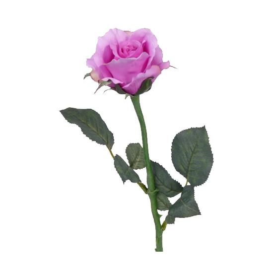 Kunst roos Alice purple 58 cm