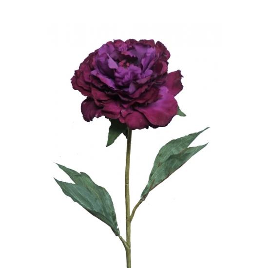 Kunstbloem pioenroos paars 67 cm