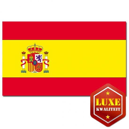 Landen versiering en vlaggen Geen Luxe vlag Spanje met wapen
