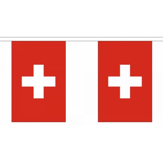 Luxe Zwitserland vlaggenlijn 9 m Geen voordeligste prijs