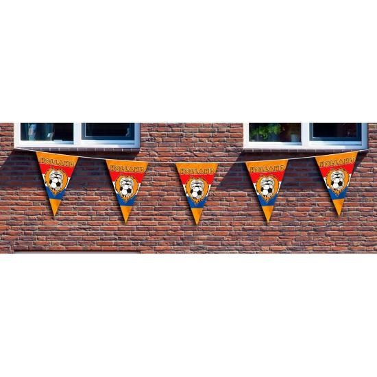 Geen Mega Holland vlaggenlijn 10 meter Oranje artikelen