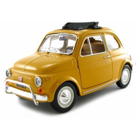 Modelauto Fiat 500 L 1968 geel 1:24