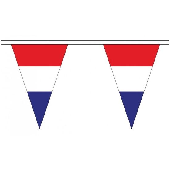 Landen versiering en vlaggen Nederland landen punt vlaggetjes 20 meter