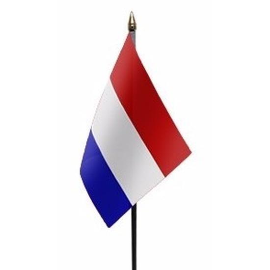 Landen versiering en vlaggen Geen Nederland mini vlaggetje op stok 10 x 15 cm