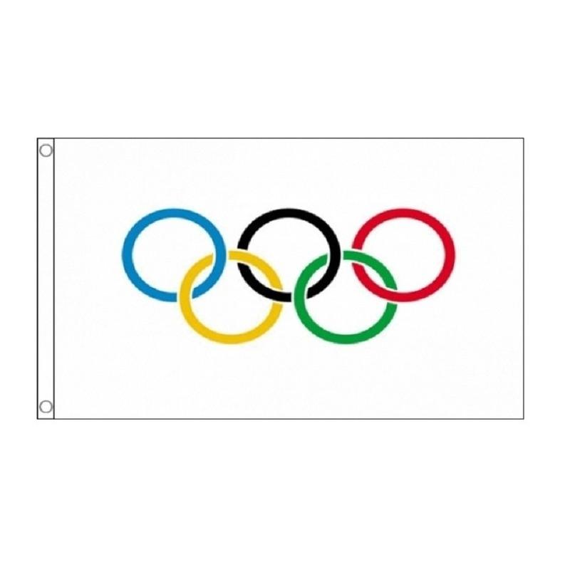Olympische vlag 90 x 150 cm