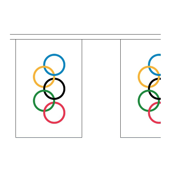Olympische vlaggenlijn 9 meter