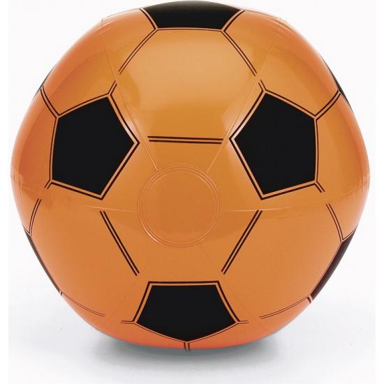 Opblaasbaar artikelen Geen Opblaasbare oranje voetbal strandbal
