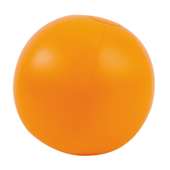 Opblaasbaar artikelen Oranje artikelen Opblaasbare strandbal oranje 30 cm