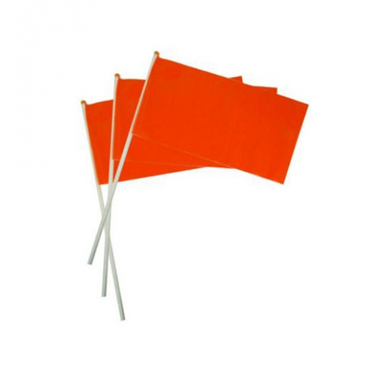 Oranje artikelen Oranje artikelen Oranje plastic zwaaivlaggetje