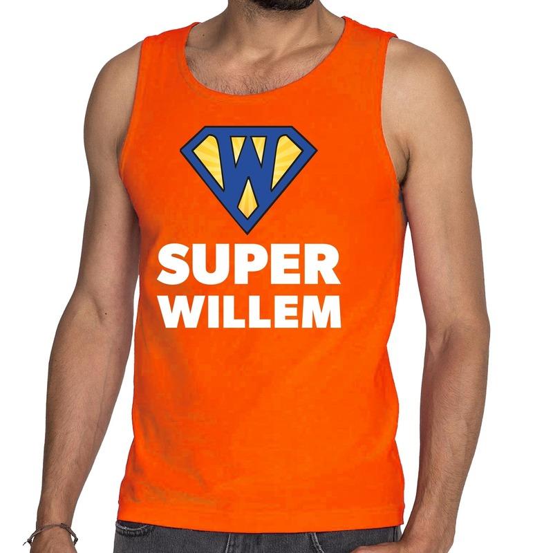 Oranje Super Willem tanktop / mouwloos shirt voor heren