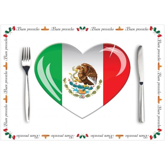 Papieren placemats Mexico 10 stuks